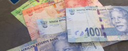 various notes of south african currency